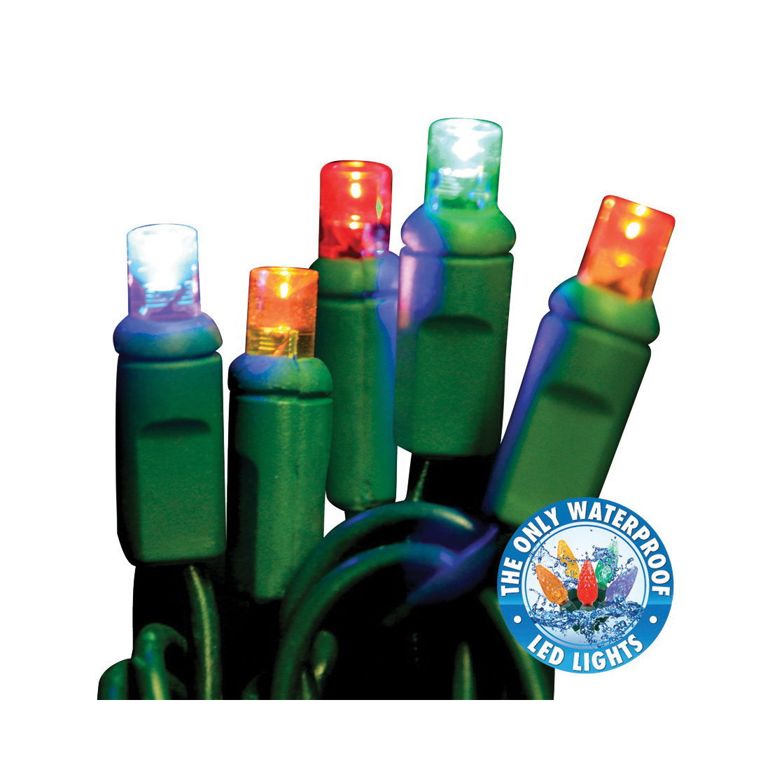 Picture of Holiday Bright Lights LEDBX-WA50-MU6 Light Set, 50 -Lamp, LED Lamp, Multi Lamp, 50000 hr Average Life, 26 ft L