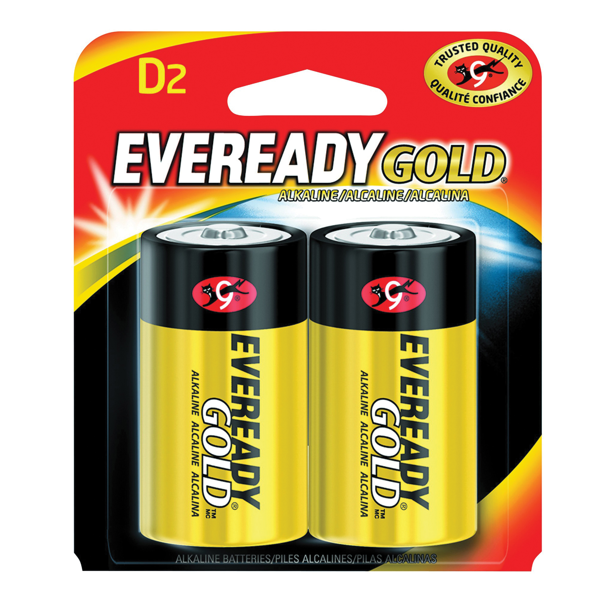 Picture of Energizer A95BP-2 Alkaline Battery, 1.5 V Battery, 19.5 Ah, D Battery, Zinc, Manganese Dioxide