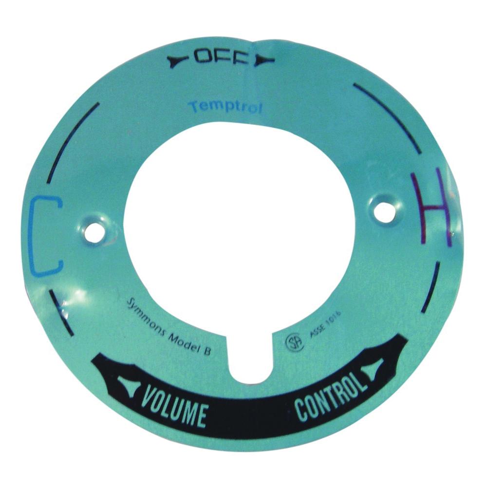 Picture of Danco 37613 Shower Temptrol Dial, Plastic, Chrome, For: Symmons Model T-29B Faucet Handles