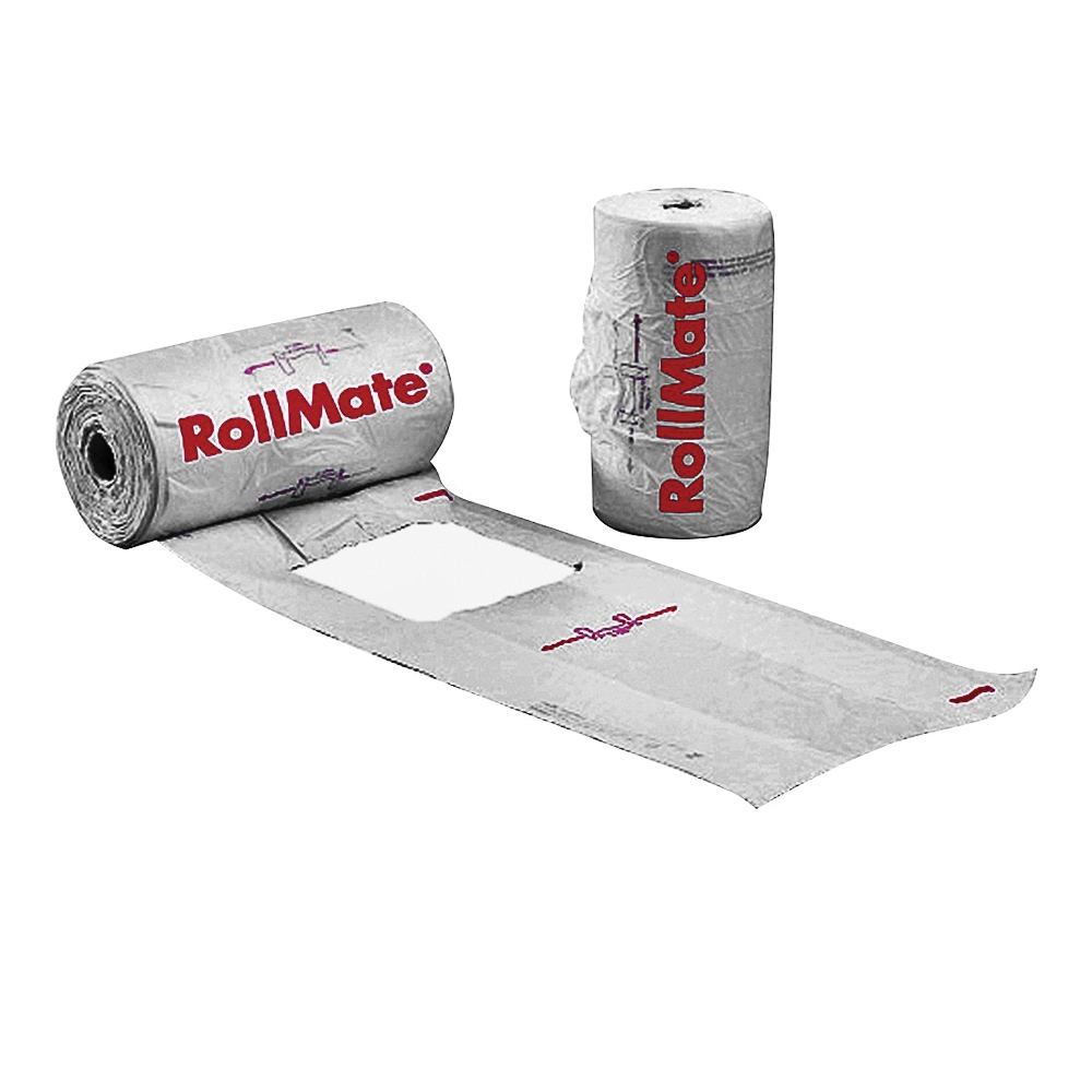 Picture of NOVOLEX RollMate 8116008 T-Shirt Roll Bag, 7.2 in L, 15 in W, L, Plastic, White