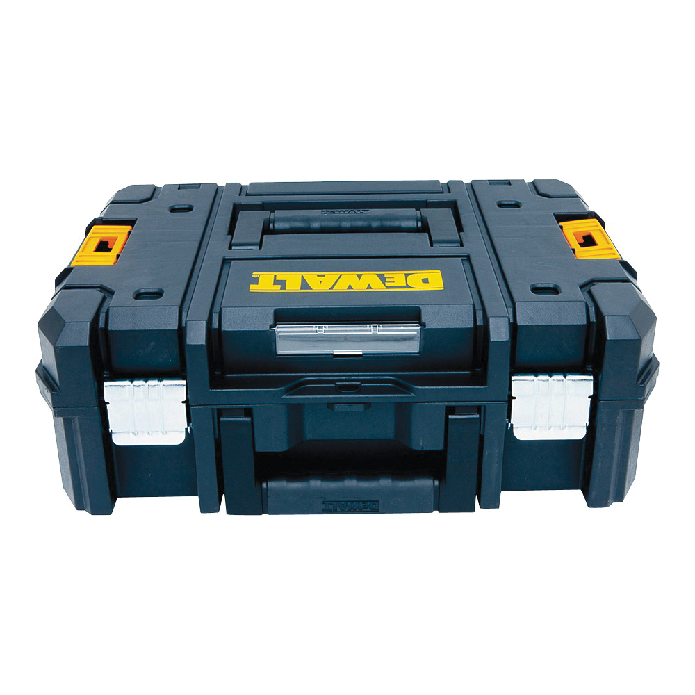Picture of DeWALT TSTAK II DWST17807 Flat Top Tool Box, 66 lb, Plastic, Black, 4 -Compartment