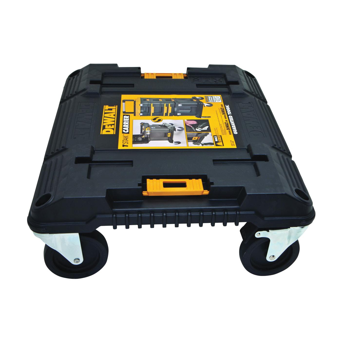 Picture of DeWALT TSTAK Series DWST17889 Tool Cart, 210 lb, 16.96 in OAW, 7.02 in OAH, 18.91 in OAD, Plastic, Black