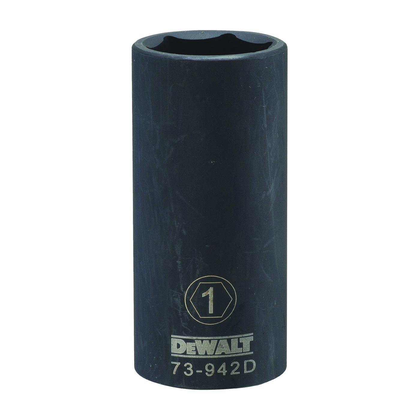Picture of DeWALT DWMT73942OSP Impact Socket, 1 in Socket, 1/2 in Drive, 6 -Point, CR-440 Steel, Black Oxide