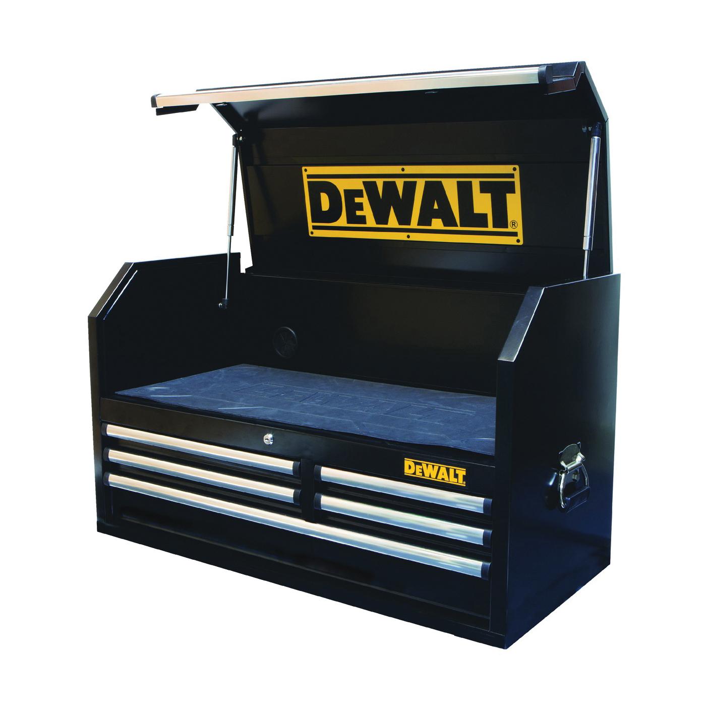 Picture of DeWALT DWMT81244 Top Chest Metal Storage, 100 lb, 40 in OAW, 23 in OAH, 18 in OAD, Steel, Black, 5 -Drawer