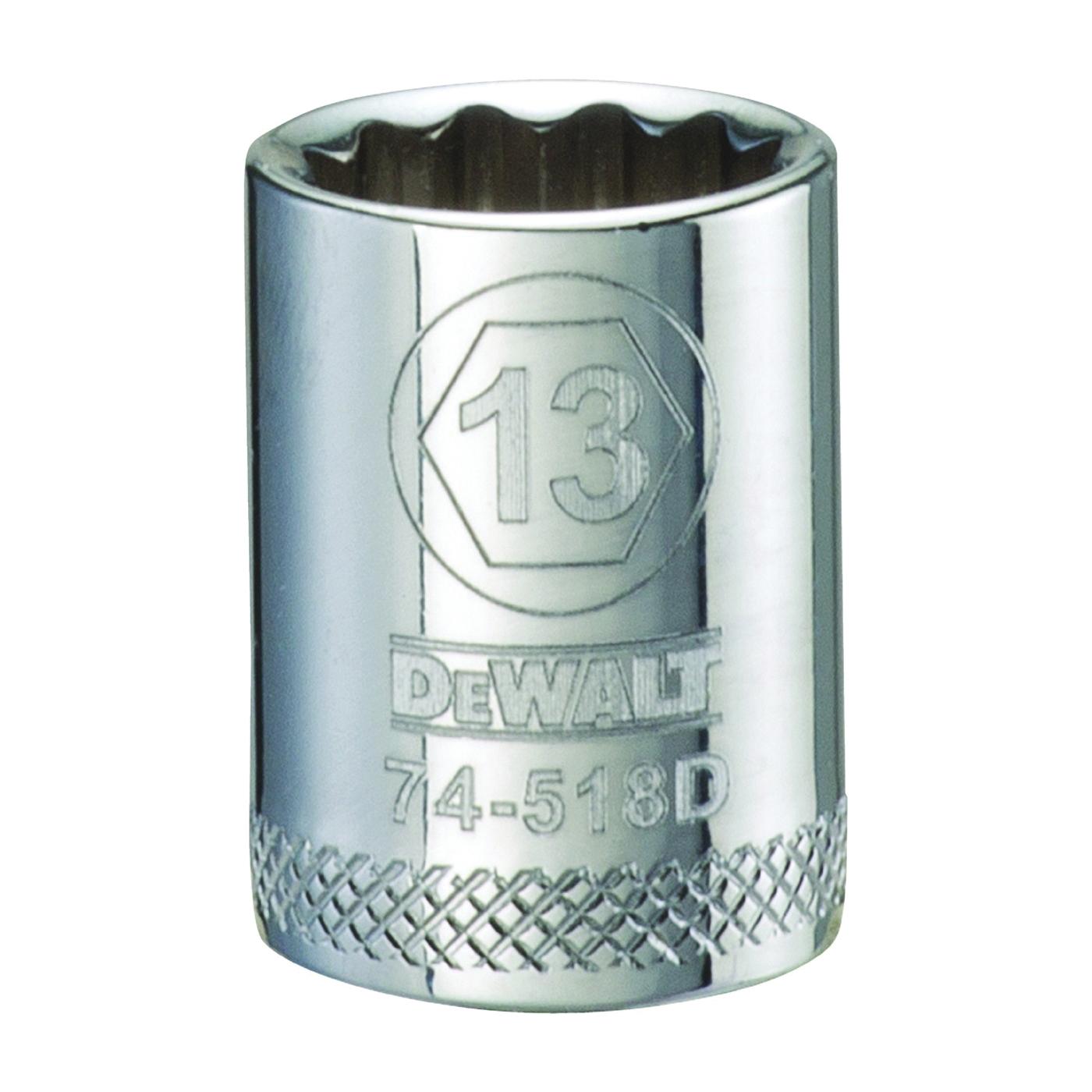 Picture of DeWALT DWMT74518OSP Hand Socket, 13 mm Socket, 3/8 in Drive, 12 -Point, Vanadium Steel, Polished Chrome
