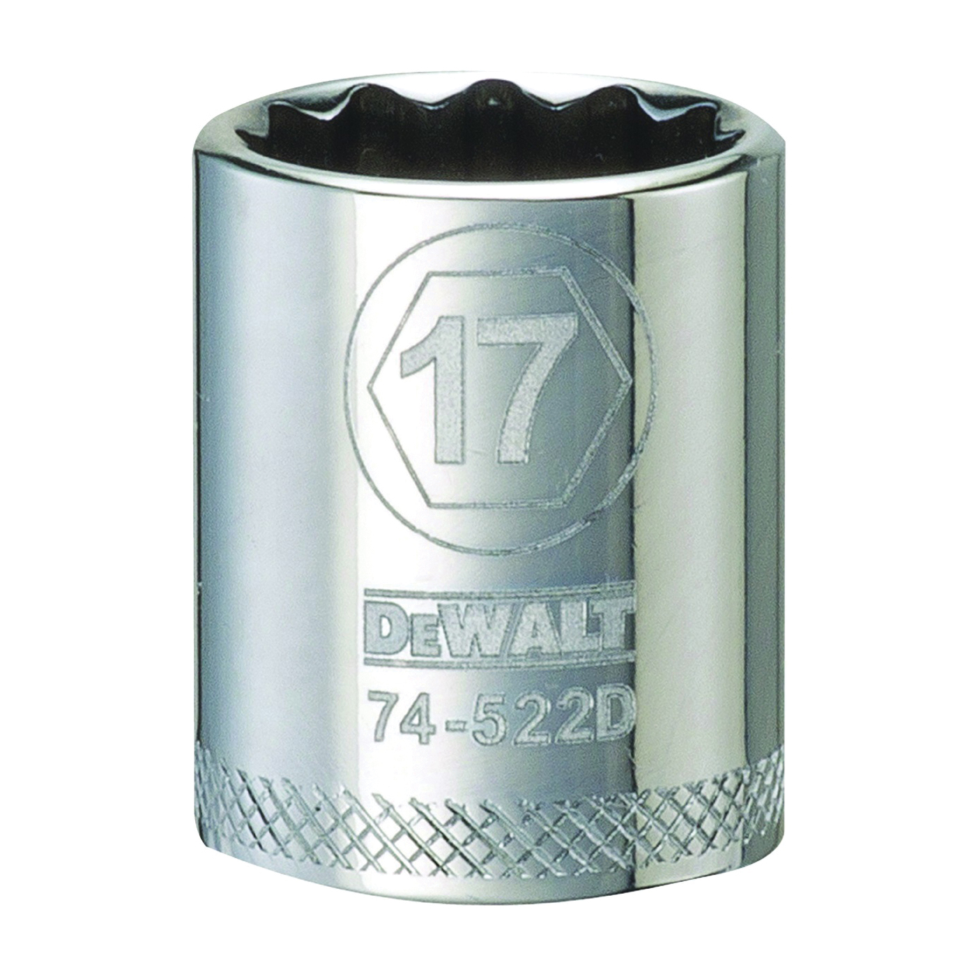 Picture of DeWALT DWMT74522OSP Hand Socket, 17 mm Socket, 3/8 in Drive, 12 -Point, Vanadium Steel, Polished Chrome