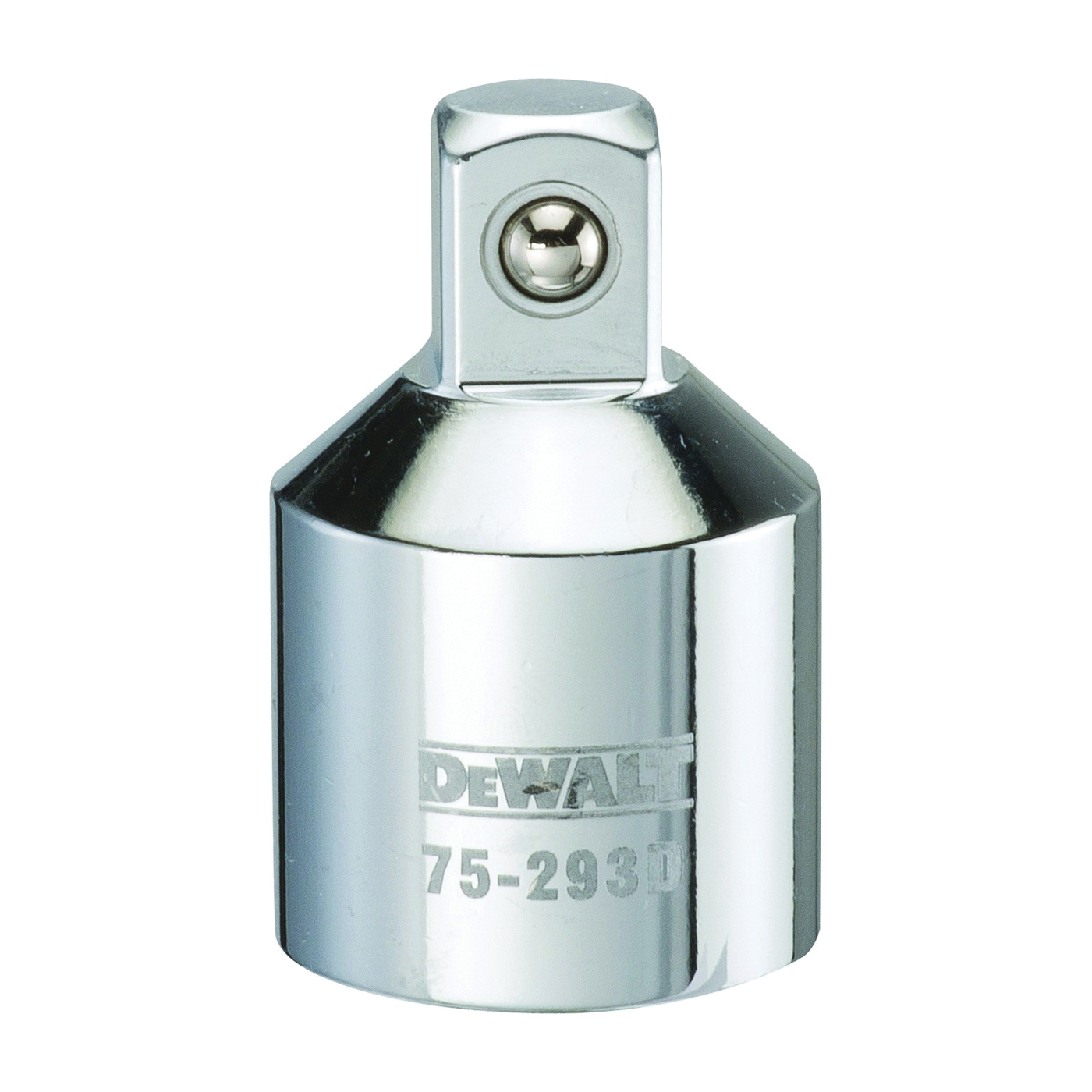 Picture of DeWALT DWMT75293OSP Reducing Adapter, 3/4 in Drive, Female Drive, 1/2 in Output Drive, Male Output Drive, Polished