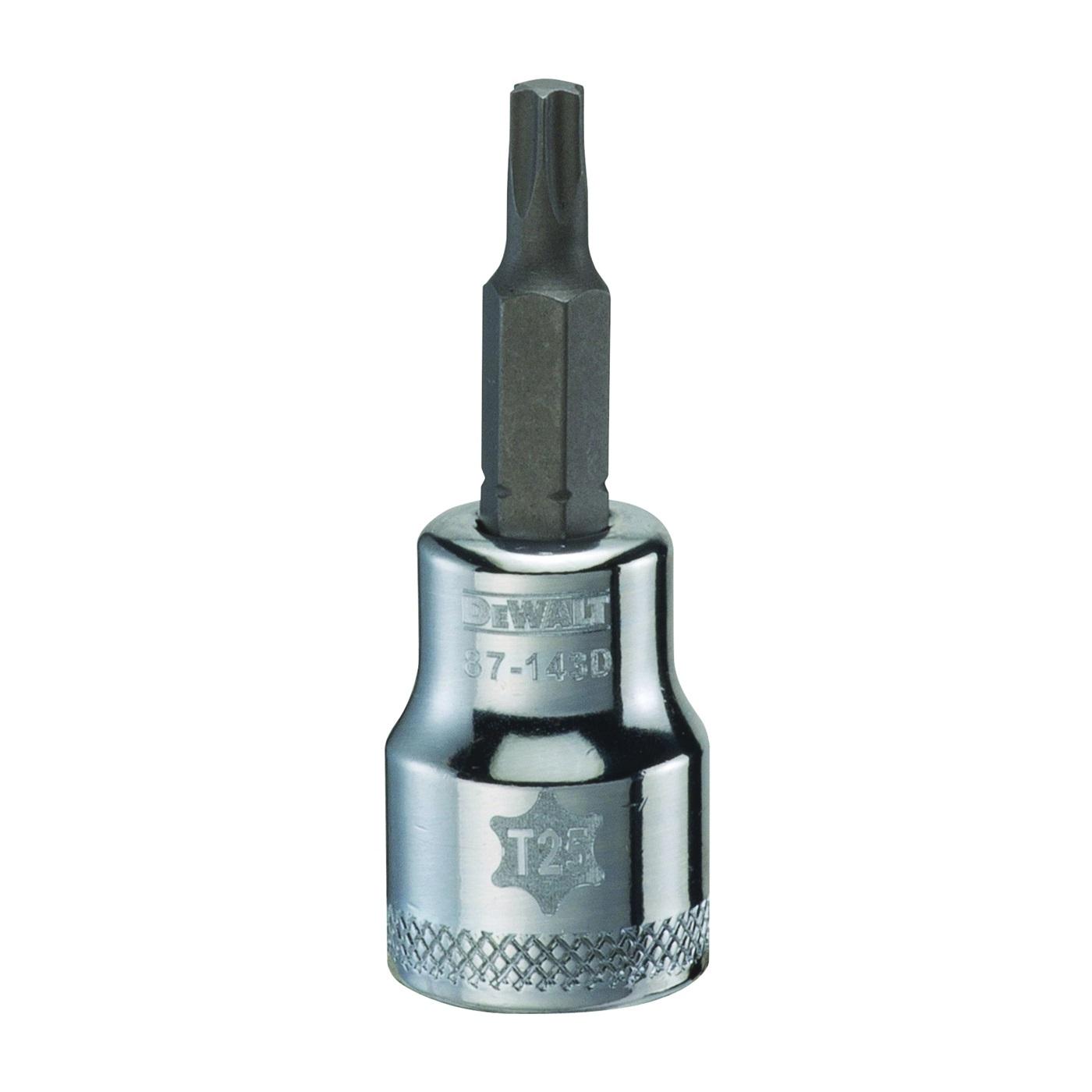 Picture of DeWALT DWMT87143OSP Torx Bit Socket, T25 Tip, 3/8 in Drive, Polished Chrome Vanadium