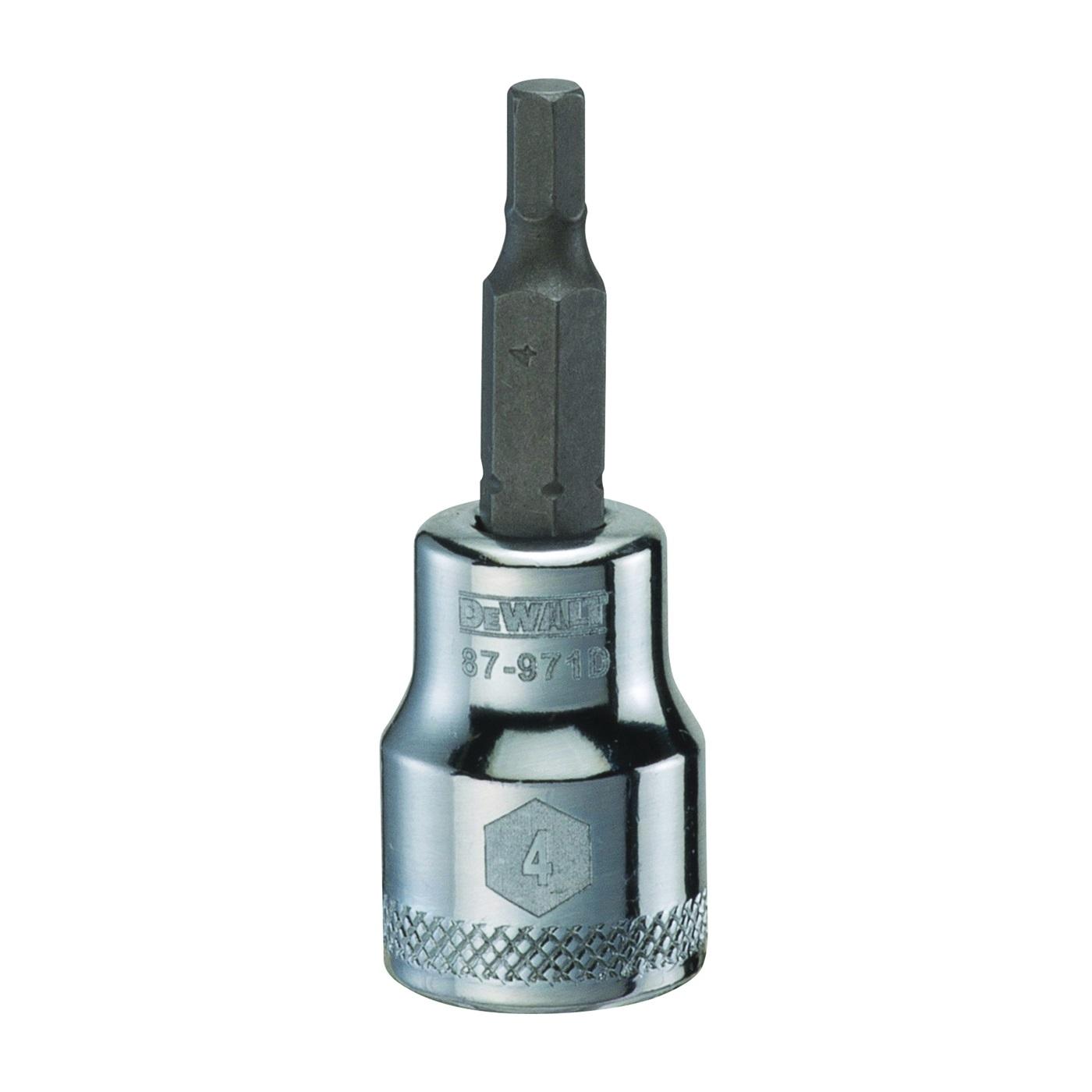 Picture of DeWALT DWMT87971OSP Fractional Hex Bit Socket, 4 mm Tip, 3/8 in Drive, Polished Chrome Vanadium, 1-31/32 in OAL