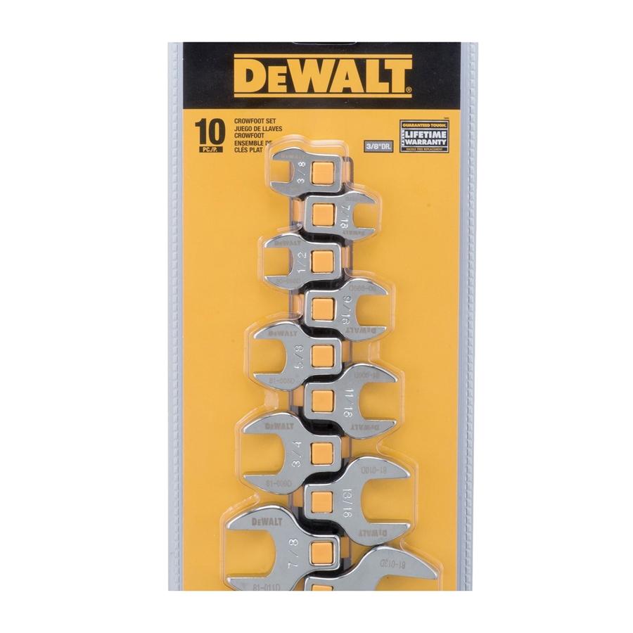 Picture of DeWALT DWMT75425OSP Crowsfoot Set, Polished Chrome Vanadium