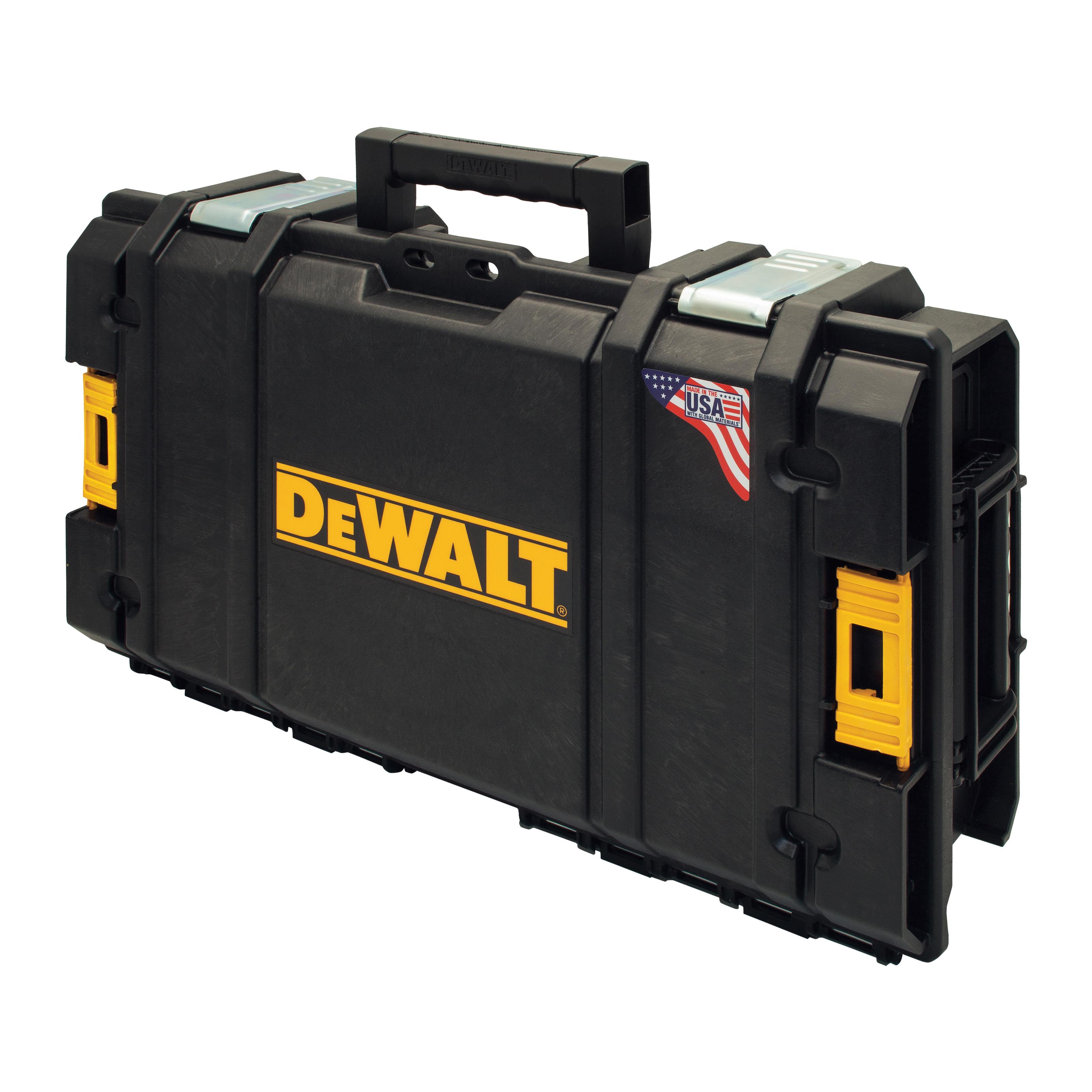 Picture of DeWALT ToughSystem DWST08130 Tool Storage System, 1155 cu-in, 13-1/4 in OAW, 6-1/4 in OAH, 22 in OAD, Foam, Black