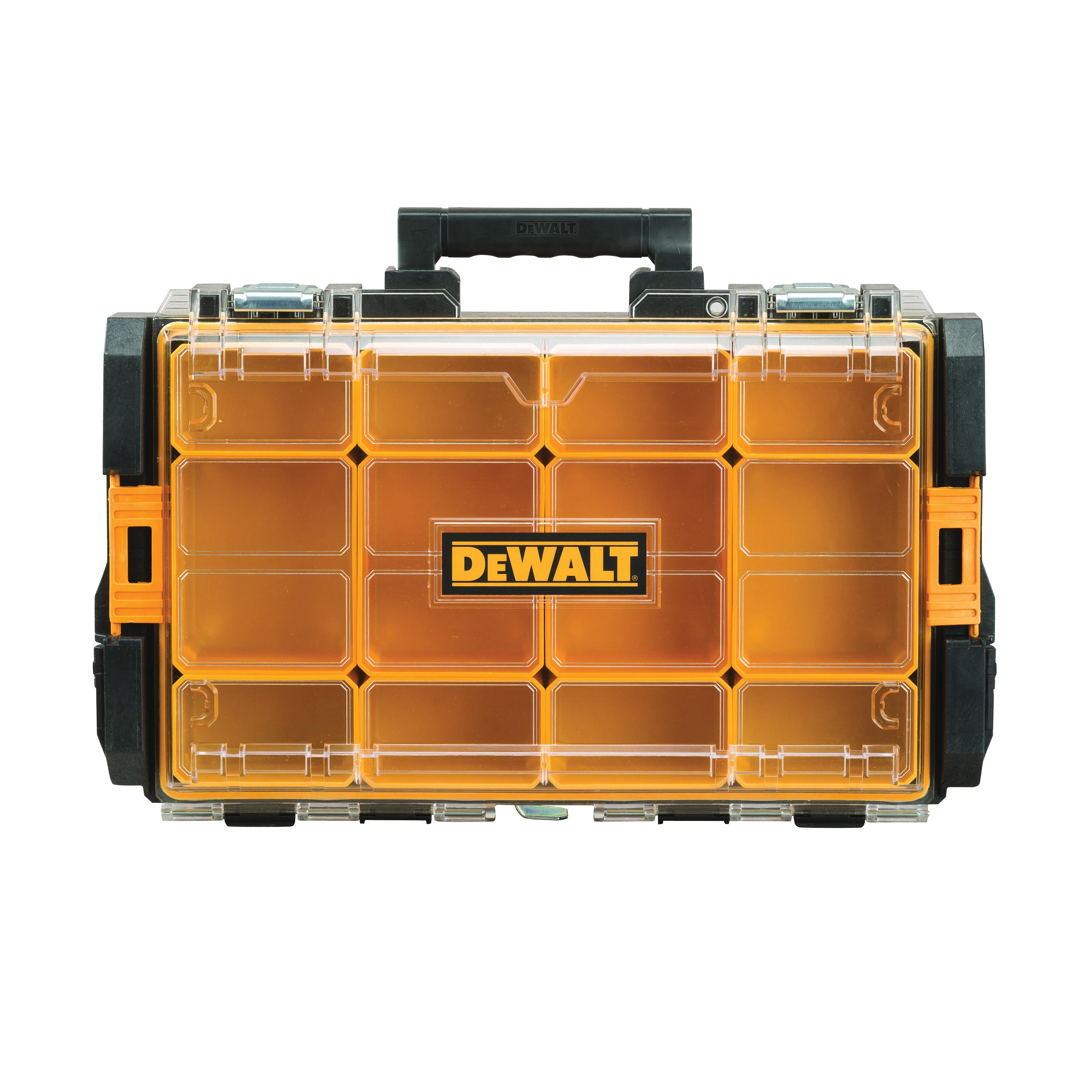 Picture of DeWALT ToughSystem DWST08202 Parts Organizer, 44 lb, 13-1/8 in OAW, 4-1/2 in OAH, 4.56 in OAD, Foam, Black