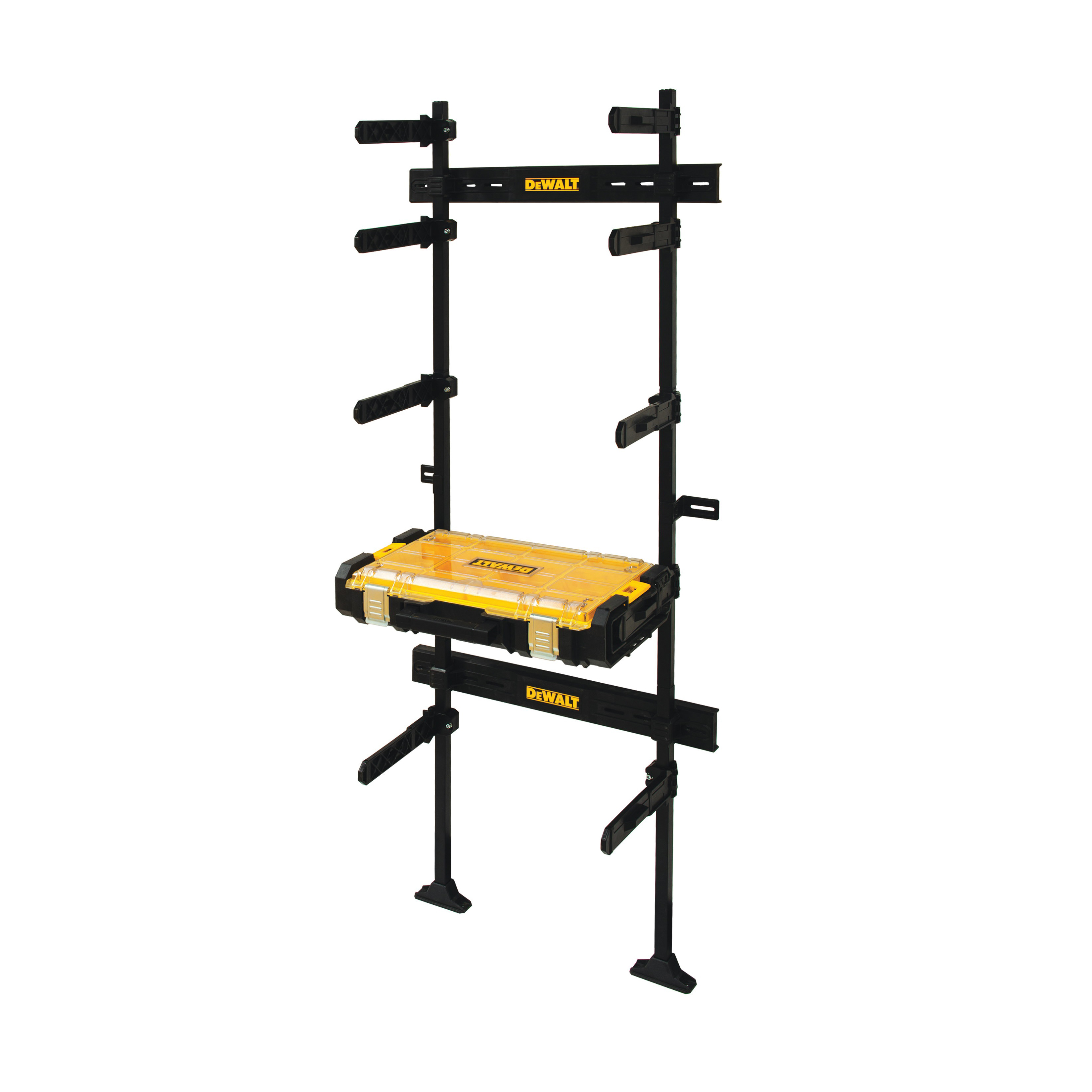 Picture of DeWALT DWST08270 Workshop Racking System with Organizer, 440 lb, 12-7/8 in W, 70-3/4 in H, 25-1/2 in L