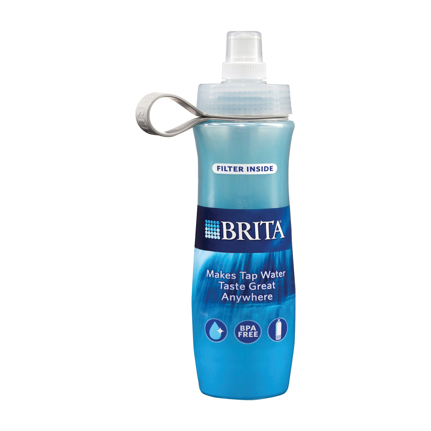 Picture of Brita 35558 Water Filtration Bottle, 24 oz Capacity, Blue