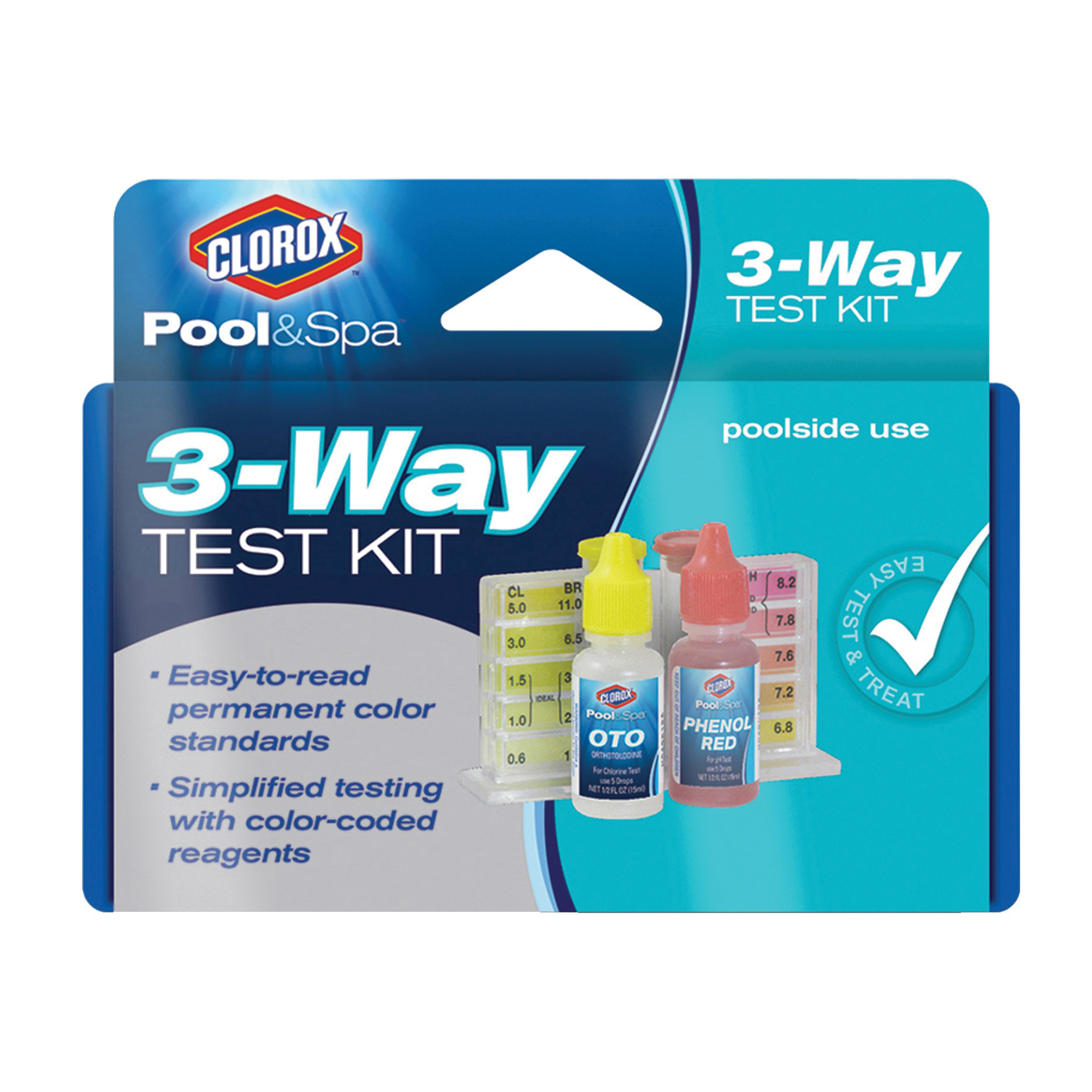 Picture of Clorox 70000CLX 3-Way Test Kit, 1
