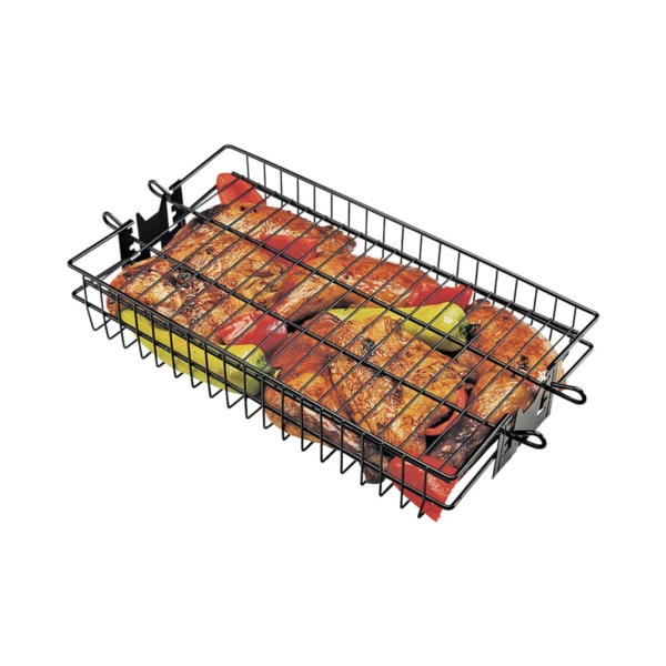 Picture of GrillPro 24785 Flat Spit Basket, Non-Stick