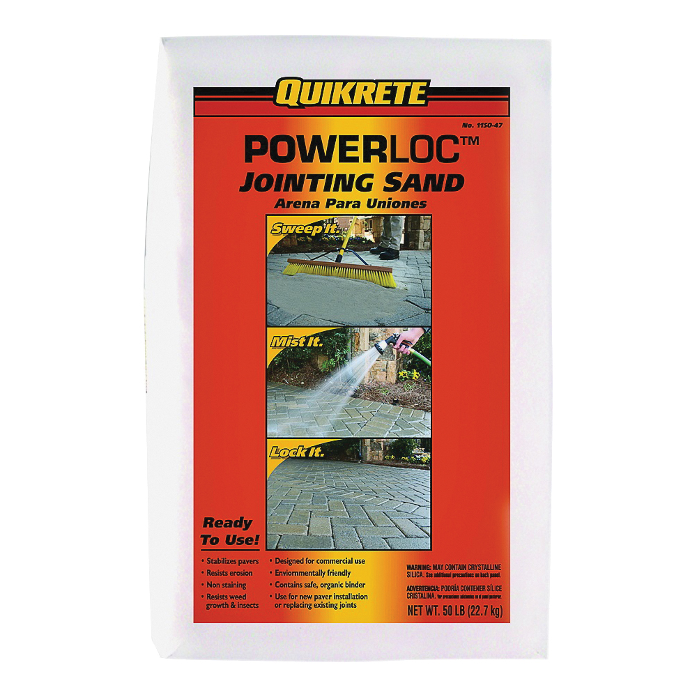 Picture of Quikrete POWERLOC 1150-47 Jointing Sand, Solid, Light Gray, 50 lb Package, Bag
