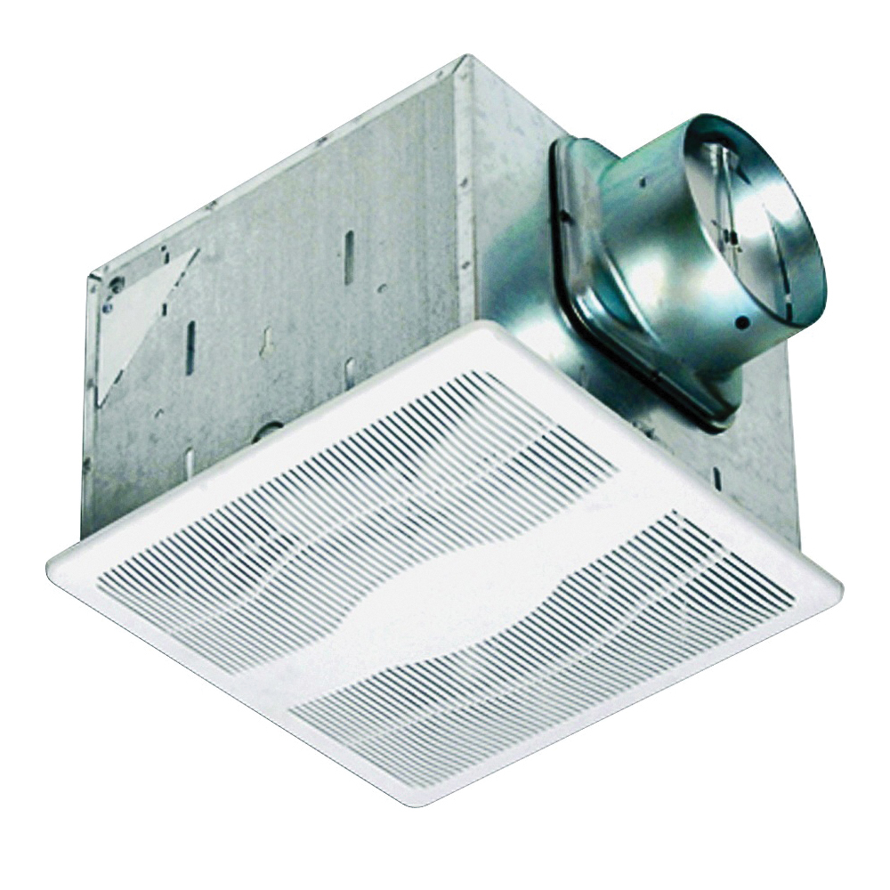 Picture of Air King E130S/ES130S Exhaust Fan, 12-3/4 in L, 12-7/8 in W, 0.3 A, 115/120 V, 1-Speed, 130 cfm Air, Steel