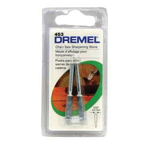 Picture of DREMEL 453 Grinding Stone, 5/32 in Dia, 1/8 in Arbor/Shank, 120 Grit, Steel Abrasive