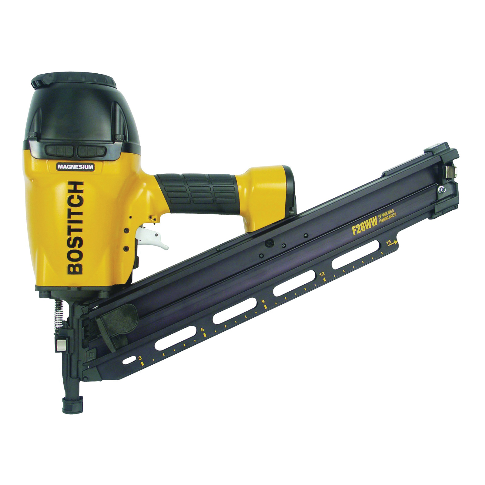 Picture of Bostitch F28WW Framing Nailer, 100 Magazine, 28 deg Collation, Wire Weld Collation, 0.075 cfm/Shot Air