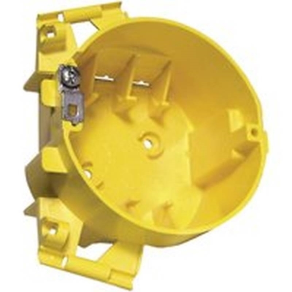 Picture of HUBBELL 2008R Ceiling Box, PVC, Yellow