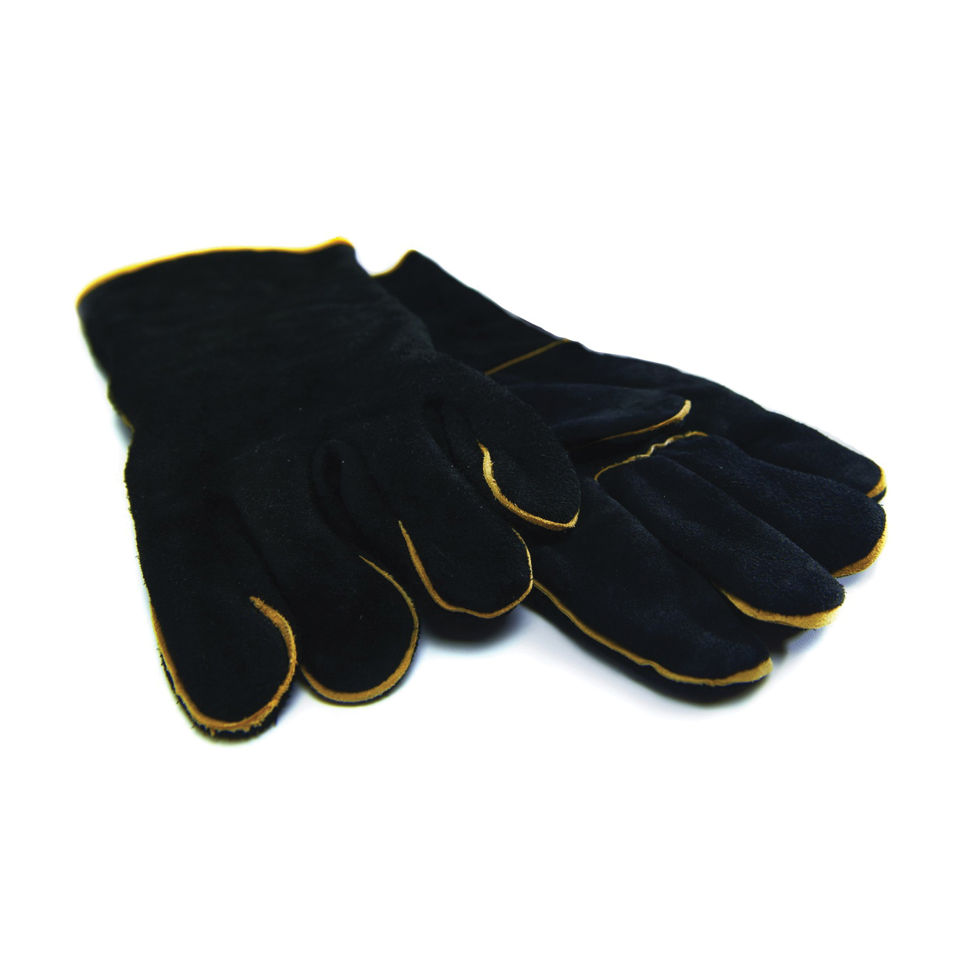 Picture of GrillPro 00528 BBQ Gloves, #1, Leather, Black