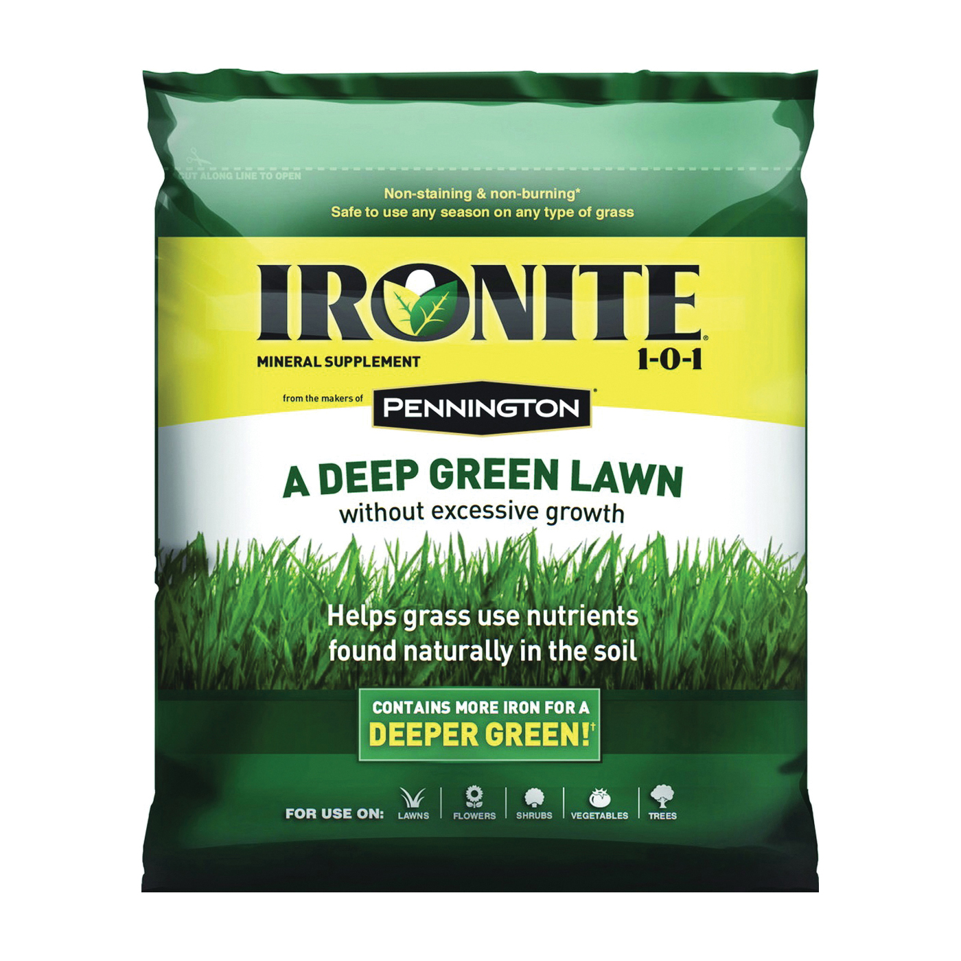 Picture of Ironite 100524194 Lawn Fertilizer, 15 lb Package, Bag
