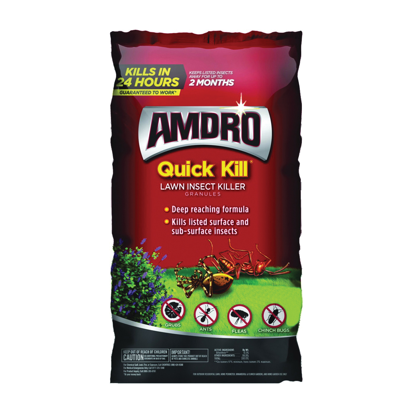 Picture of Amdro QUICK KILL 100527997 Lawn Insect Killer, 20 lb Package, Bag