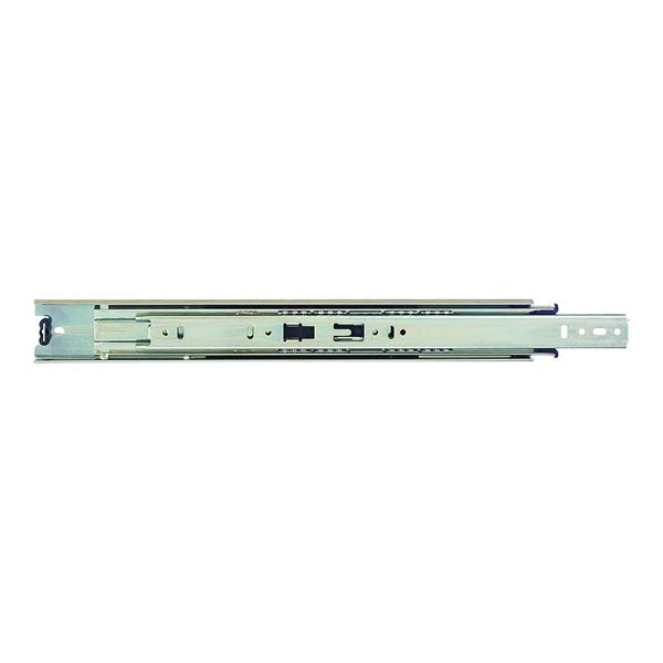 Picture of KV True-Trac TT100P 550 Drawer Slide, 100 lb, 550 mm L Rail, 12.7 mm W Rail, Zinc
