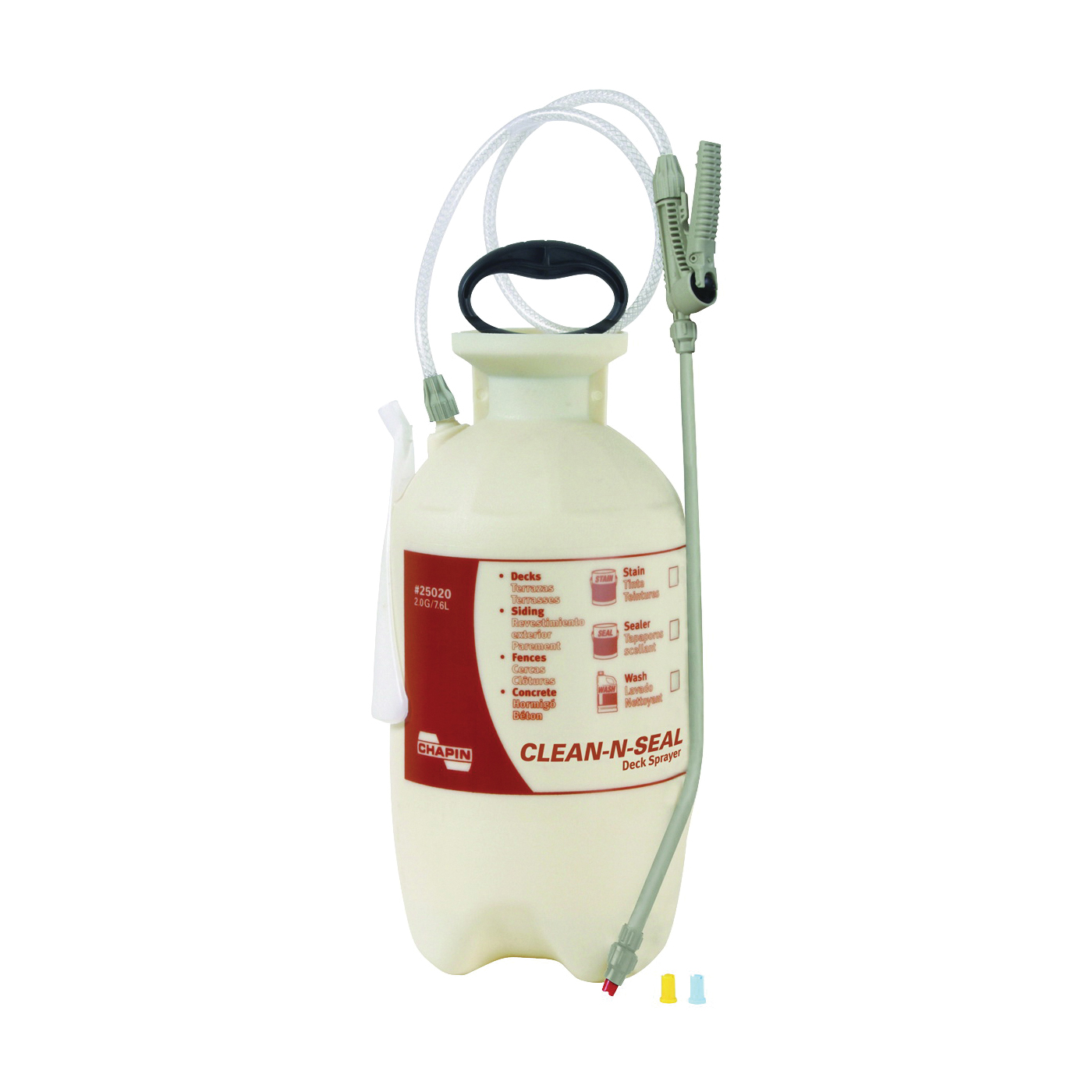 Picture of CHAPIN Clean 'N Seal 25020 Compression Sprayer, 2 gal Tank, Poly Tank, 34 in L Hose