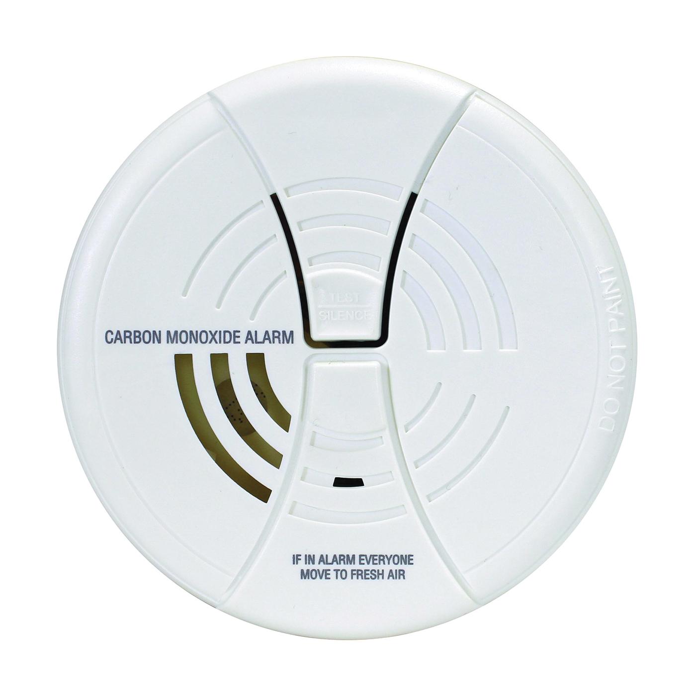 Picture of FIRST ALERT CO250B Carbon Monoxide Alarm, 85 dB, Alarm: Audible/Visual, Electrochemical Sensor, White