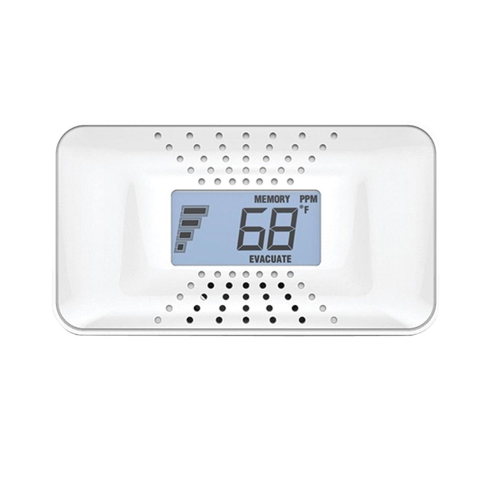 Picture of FIRST ALERT CO710 Carbon Monoxide Alarm, 40 ft, Digital Display, 85 dB, Alarm: Audible, Electrochemical Sensor