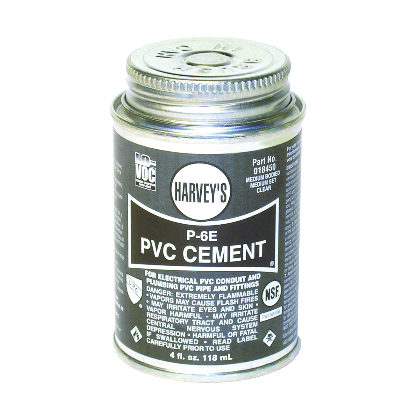 Picture of HARVEY 018450-12 Conduit Cement, 4 oz, Can, Liquid, Clear