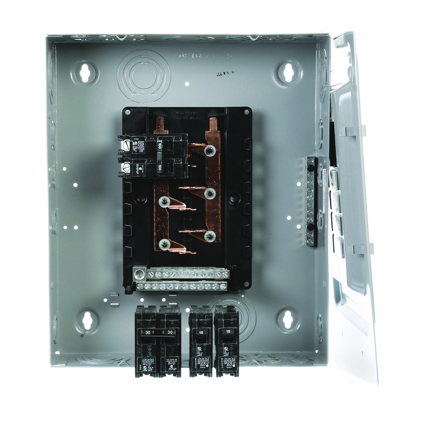 Picture of Siemens E1020MB1100FCGP Loadcenter, 100 A, 20-Circuit, NEMA 1 Enclosure, Plug-In Mounting