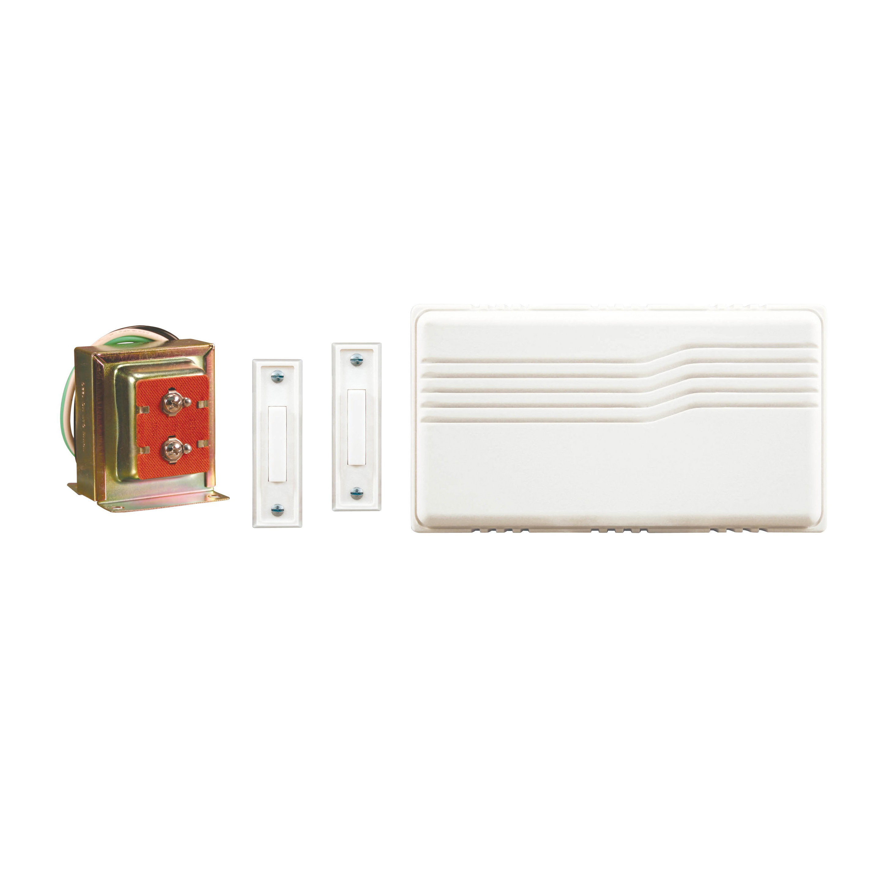 Picture of Heath Zenith SL-27102-02 Doorbell Kit, Wired, 16 V, Ding, Ding-Dong Tone, 95 dB, White