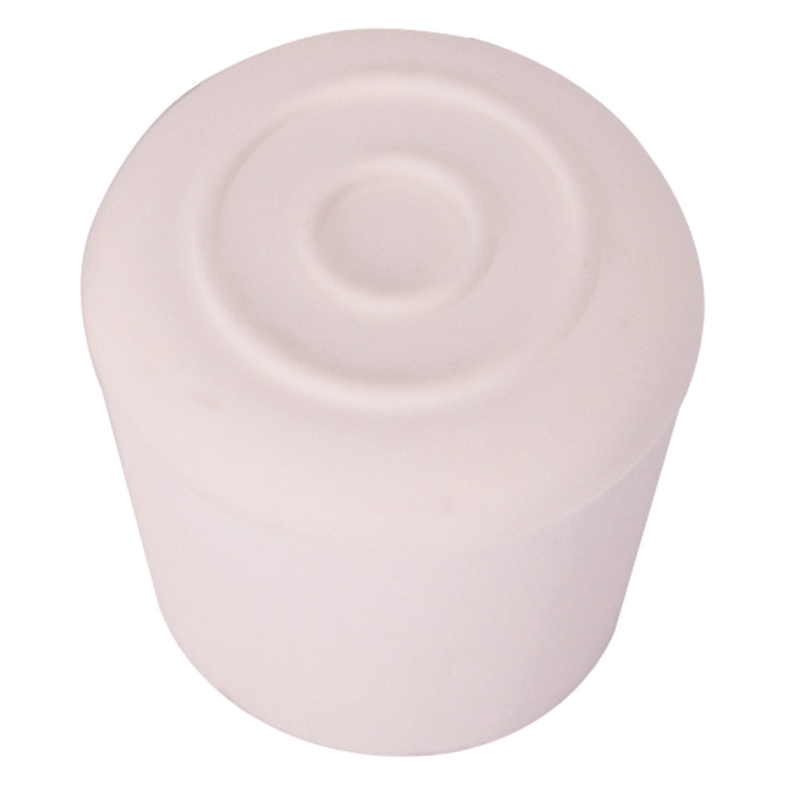 Picture of ProSource FE-50646-B Furniture Leg Tip, Round, Rubber, White, 1-1/8 in Dia