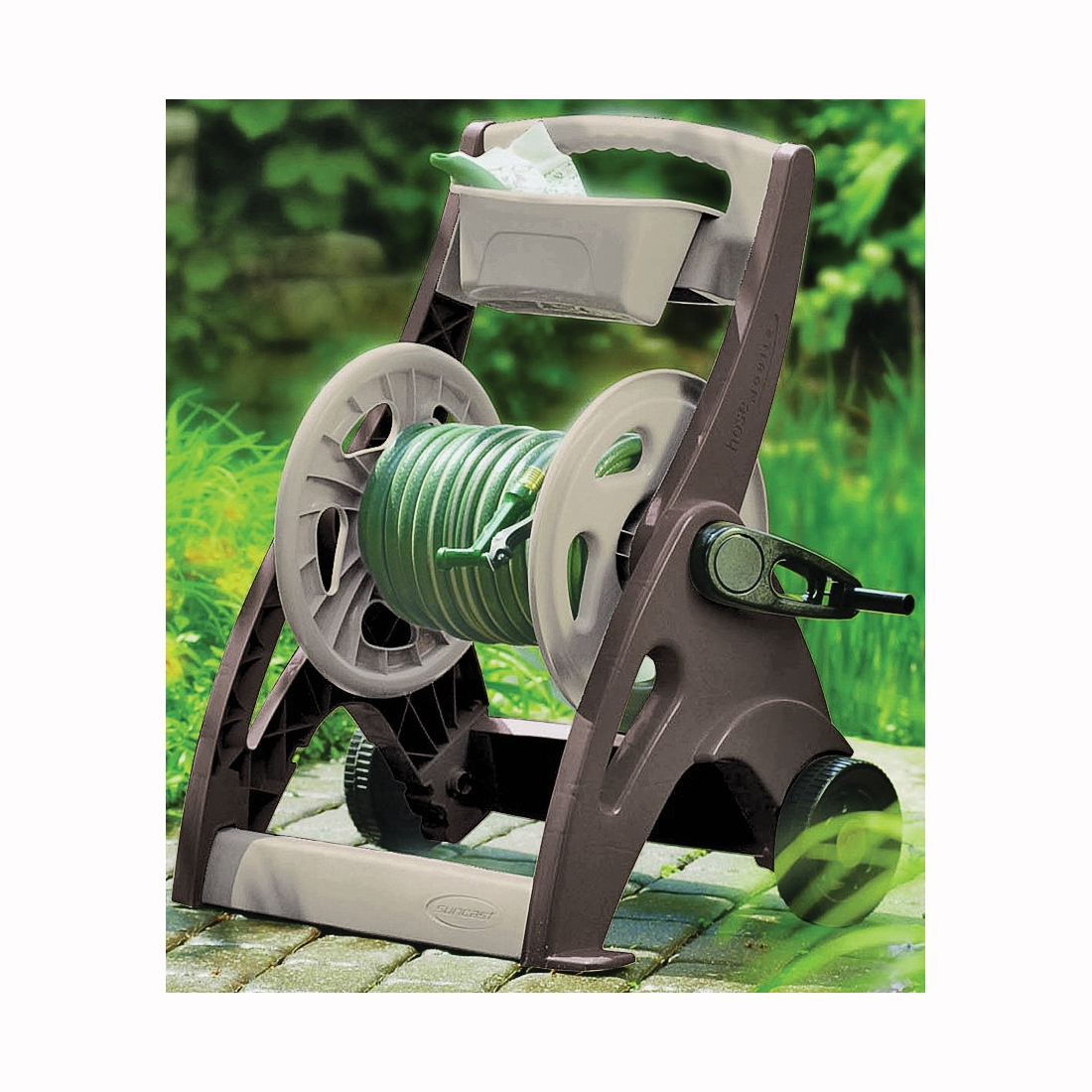 Picture of Suncast SFB200B Hose Reel Cart, 5/8 in Hose, 225 ft of 5/8 in Hose, Crank Handle, Resin