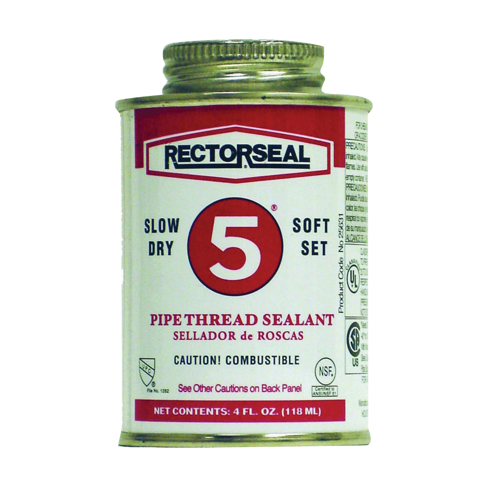 Picture of RECTORSEAL 25631 Thread Sealant, 0.25 pt, Can, Paste, Yellow