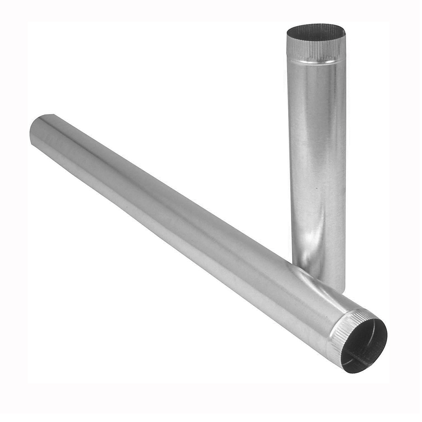 Picture of Imperial GV0394 Duct Pipe, 7 in Dia, 24 in L, 26 Gauge, Galvanized Steel, Galvanized