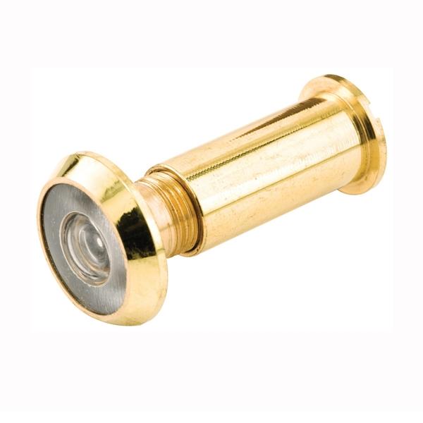 Picture of Defender Security U 9891 Door Viewer, 200 deg Viewing, 1-3/8 to 2-1/8 in Thick Door, Glass, Brass