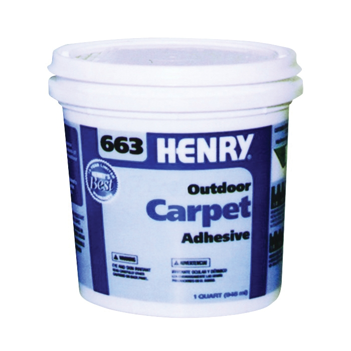 Picture of HENRY 12183 Carpet Adhesive, Beige, 1 qt Package, Container