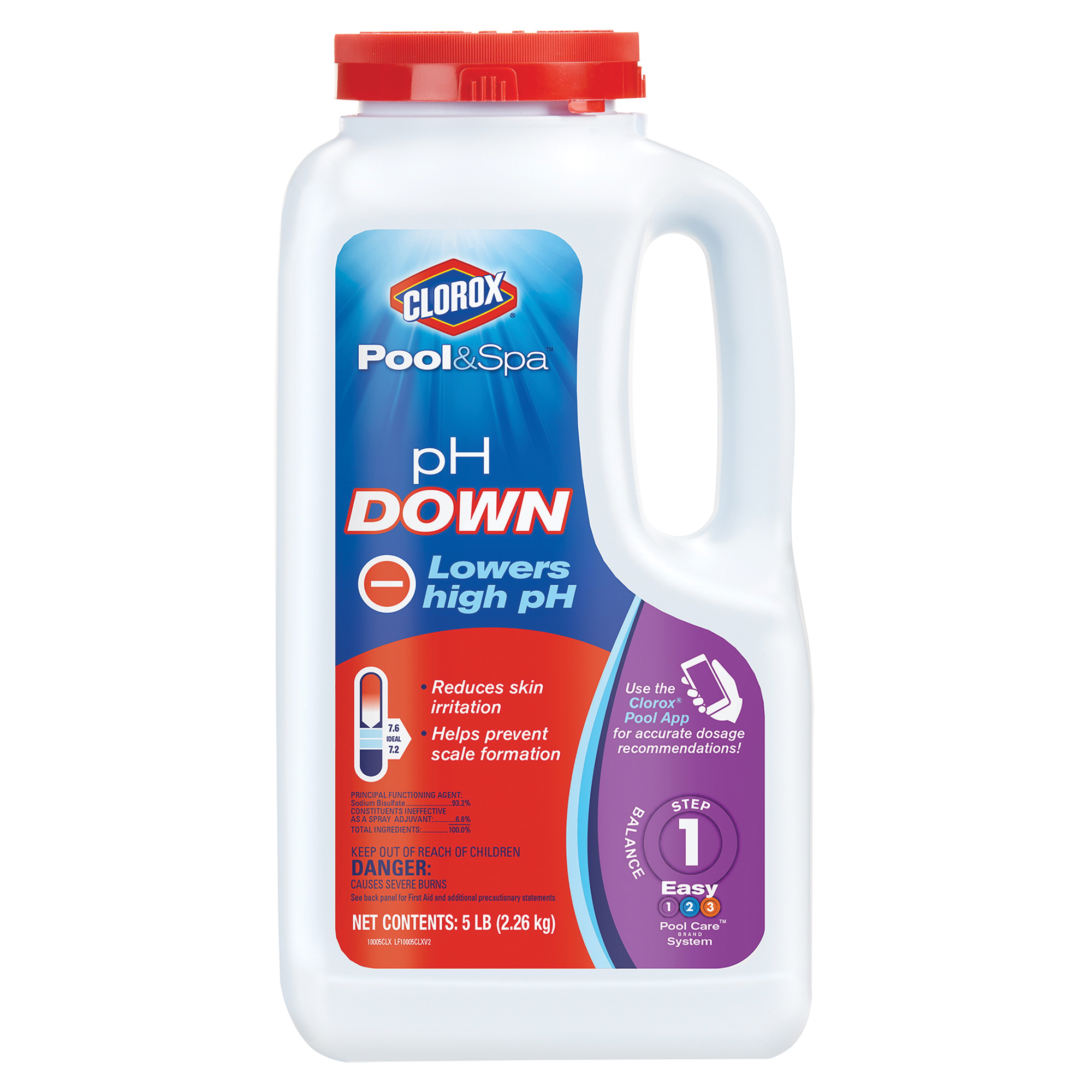 Picture of Clorox 12105CLX pH Down, Granular, Off-White, 5 lb Package