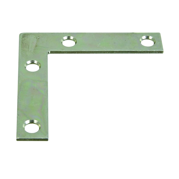 Picture of National Hardware 117BC Series N266-502 Corner Brace, 2-1/2 in L, 1/2 in W, 2-1/2 in H, Steel, Zinc