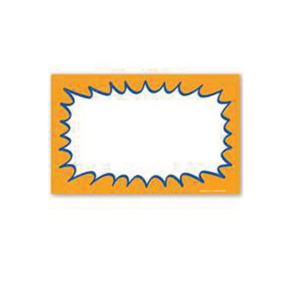 Picture of Centurion CRA338 Laser Starburst Sign, Orange Background, 11 in W x 7 in H Dimensions