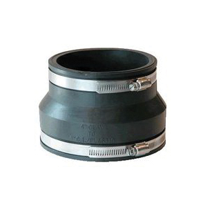 Picture of FERNCO P1002-43 Pipe Stock Coupling, 4 x 3 in, PVC, Black, 4.3 psi Pressure