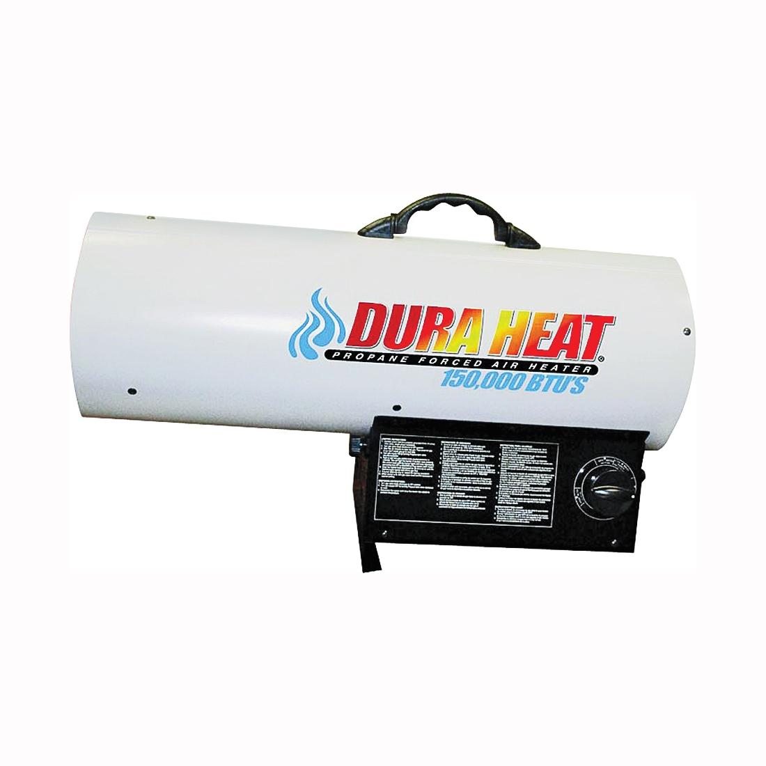 Picture of Dura Heat GFA150A Forced Air Heater, 100 lb Fuel Tank, Liquid Propane, 120000/135000/150000 Btu, 99 % Efficiency