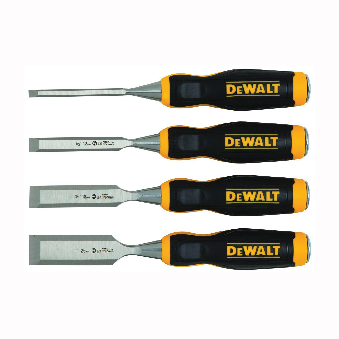 Picture of DeWALT DWHT16063 Chisel Set, 4 -Piece, Black/Yellow