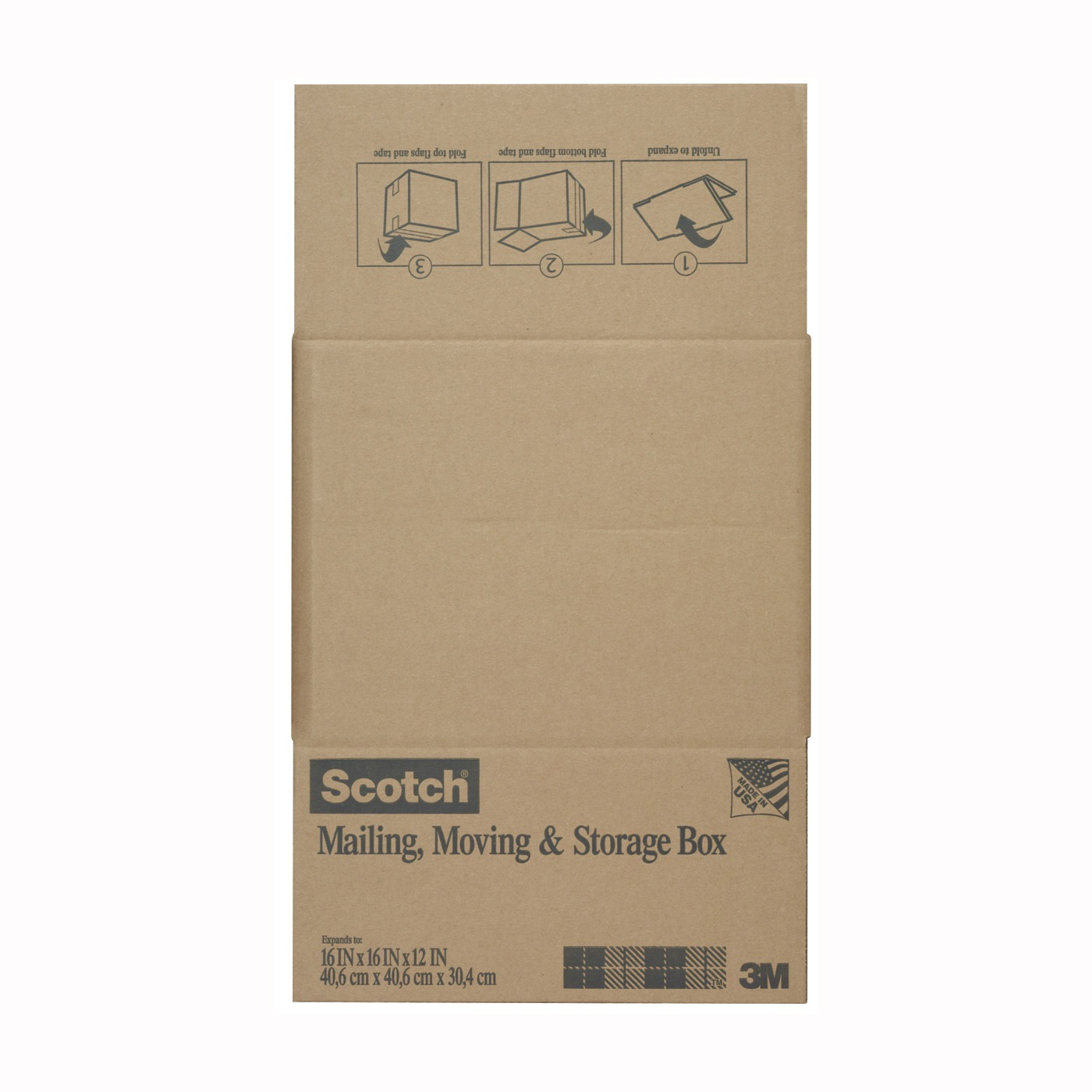 Picture of Scotch 8016.2FB Folded Box, L, Brown