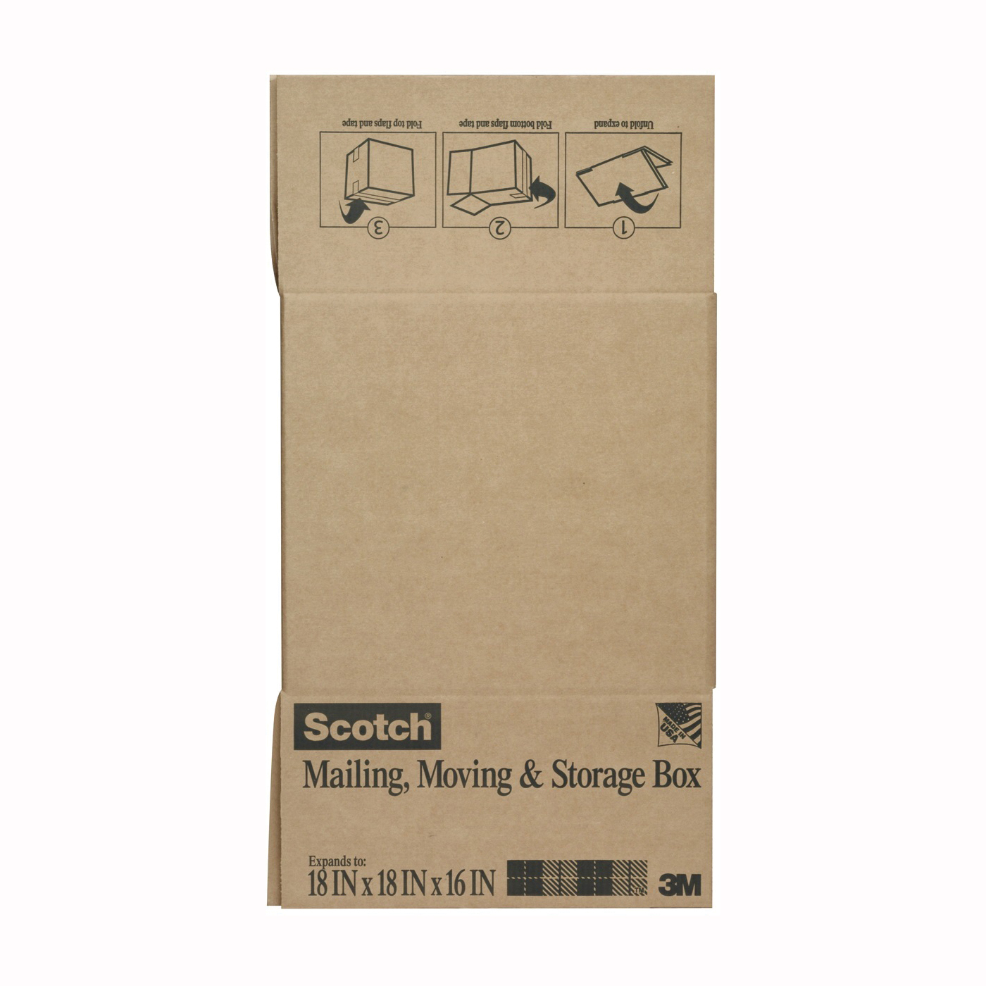 Picture of Scotch 8018FB-LRG Folded Box, L, Brown