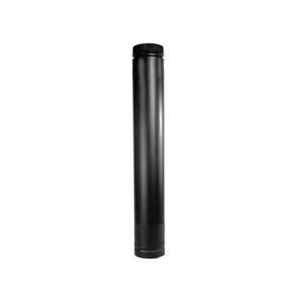 Picture of SELKIRK DSP7TL Stove Pipe, 7 in ID x 7-1/2 in OD Dia, 38 to 68 in L, Aluminized Steel/Stainless Steel, Black